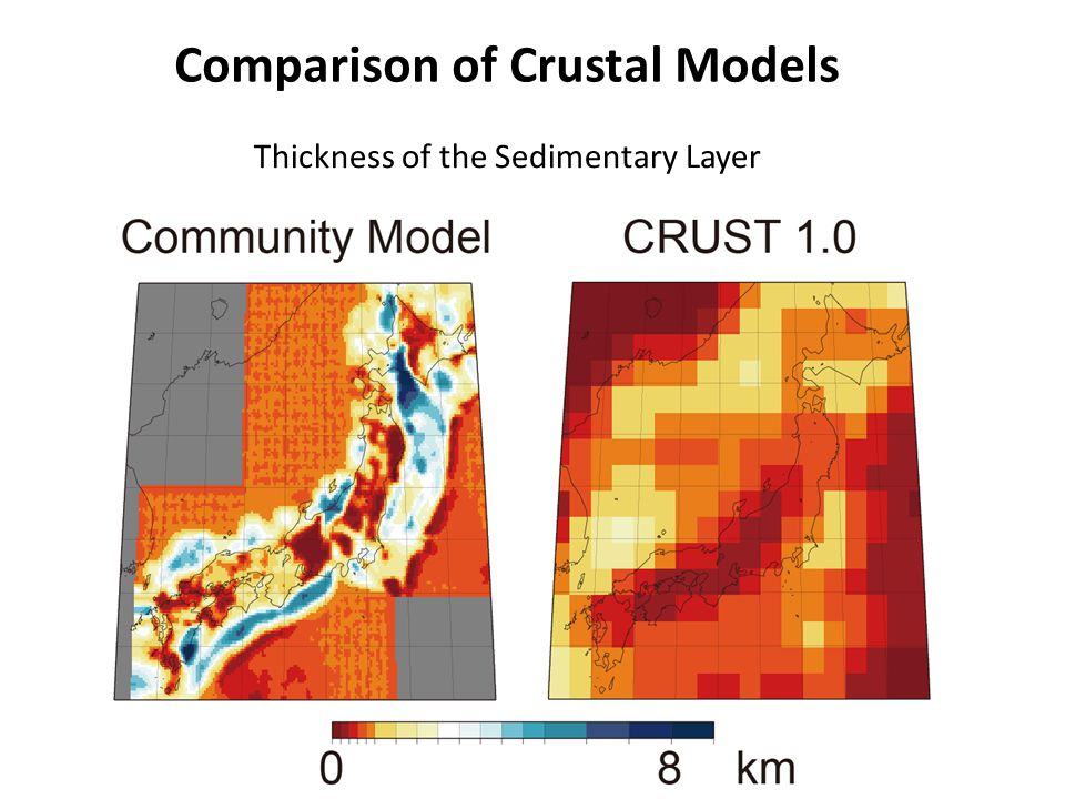 Comparison of Crustal Models Thickness of the Sedimentary Layer