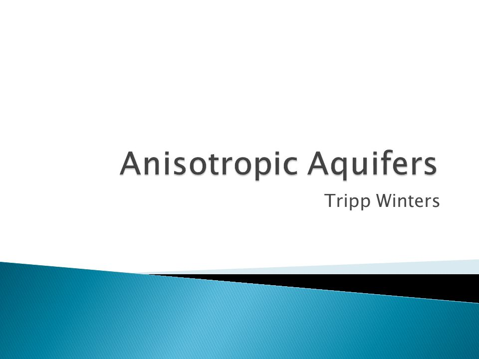  HANTUSH'S METHOD  The flow to a well in a leaky aquifer which is anisotropic on the horizontal plane can be analyzed with a method that is essentially the same as the Hantush method for confined aquifers with anisotropy on the horizontal plane.