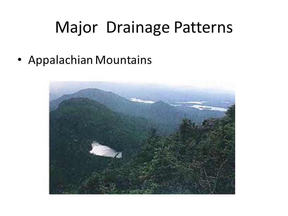 Major Drainage Patterns Appalachian Mountains