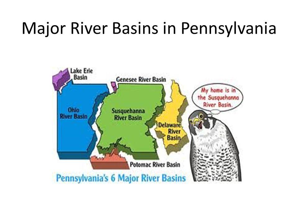 Major River Basins in Pennsylvania