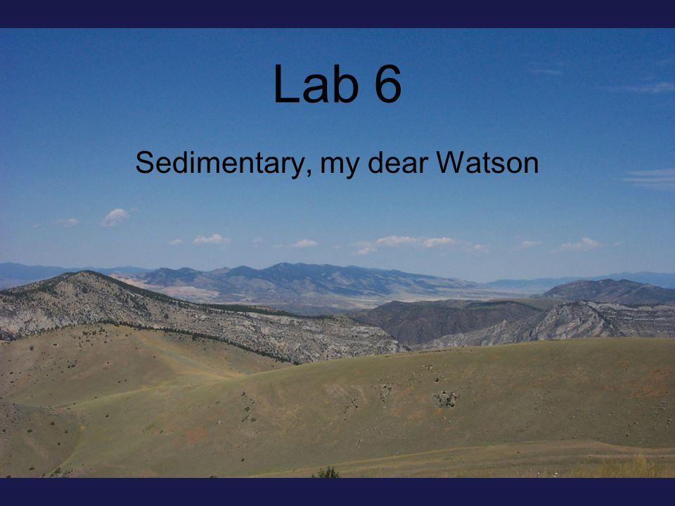 Lab 6 Sedimentary, my dear Watson