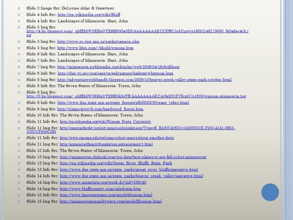 Slide 2 Image Src: DeLorme Atlas & Gazetteer Slide 4 Info Src: http://en.wikipedia.org/wiki/Bluffhttp://en.wikipedia.org/wiki/Bluff Slide 4 Info Src: