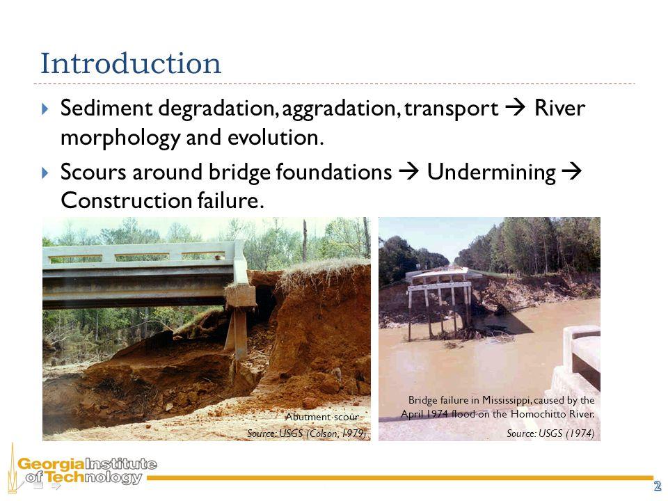 Introduction  Sediment degradation, aggradation, transport  River morphology and evolution.