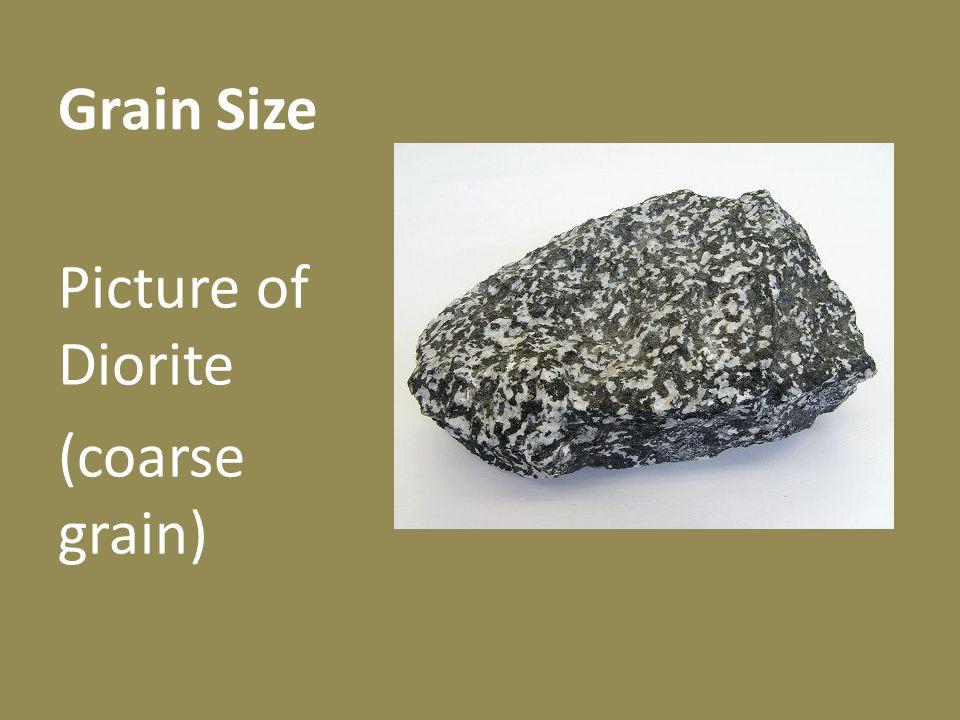 Grain Size Picture of Diorite (coarse grain)
