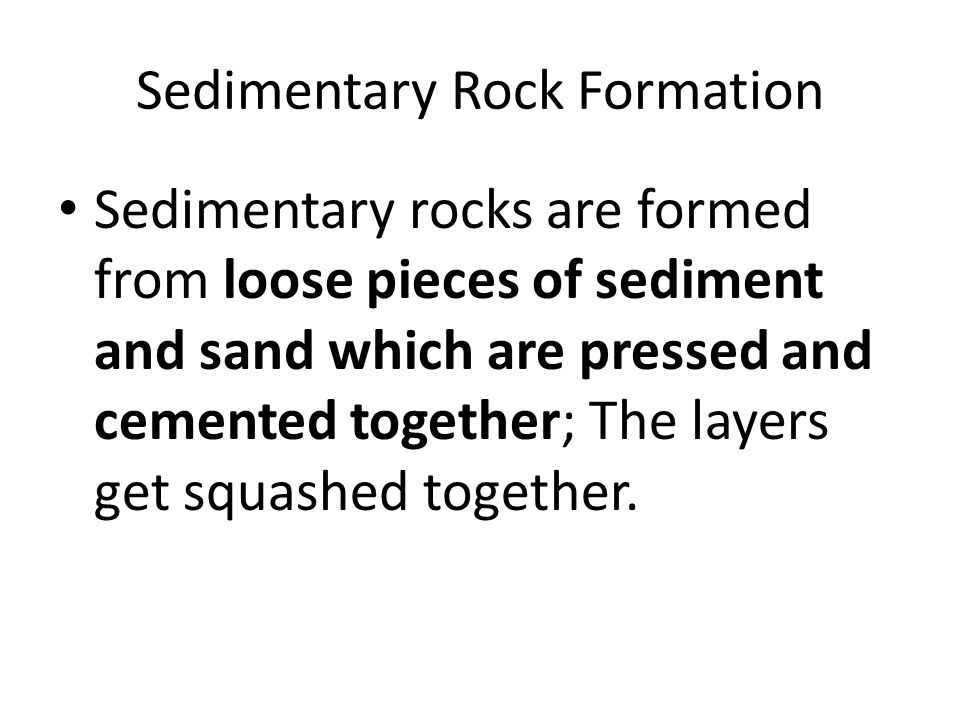 Large sediments are glued together = cementation.