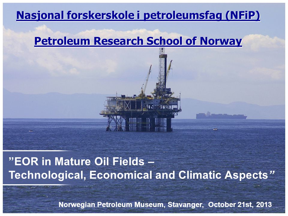 - 71 participants - 6 distinguished speakers - 3 PhD students - Norwegian Research Council (NRC/OG21) - Statoil - MiSA - UiT, NTNU, UiO, UiB and UiS Welcome.