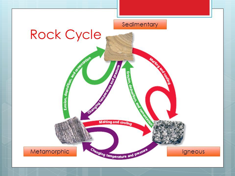 Sedimentary MetamorphicIgneous Rock Cycle