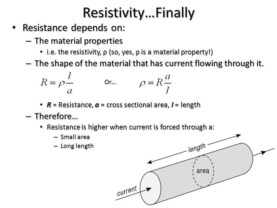 Resistivity…How Do We Measure It.
