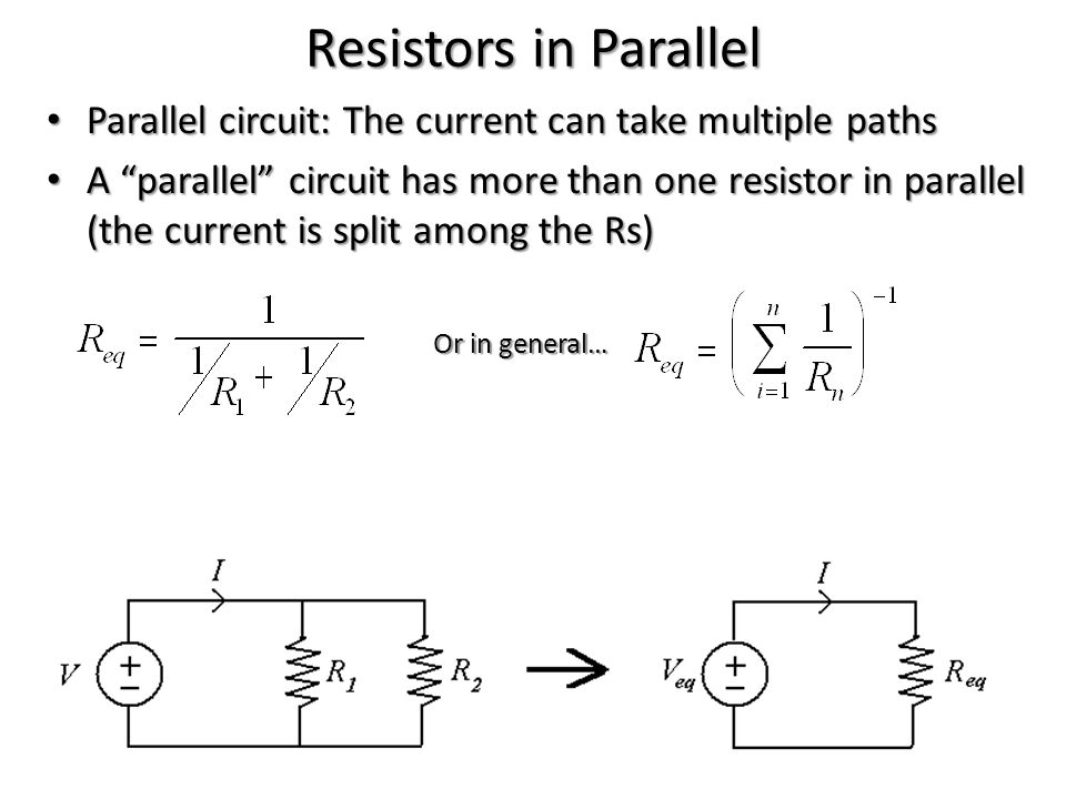 Measuring Resistivity Voltage is measured by a voltmeter Voltage is measured by a voltmeter – Plugged in parallel with the R of interest – Hi R value Current is measured by an ammeter Current is measured by an ammeter – Plugged in series along the branch of the circuit shared by the R of interest – Low R value So, the ammeter and voltmeter do not have an effect on the circuit's resistance