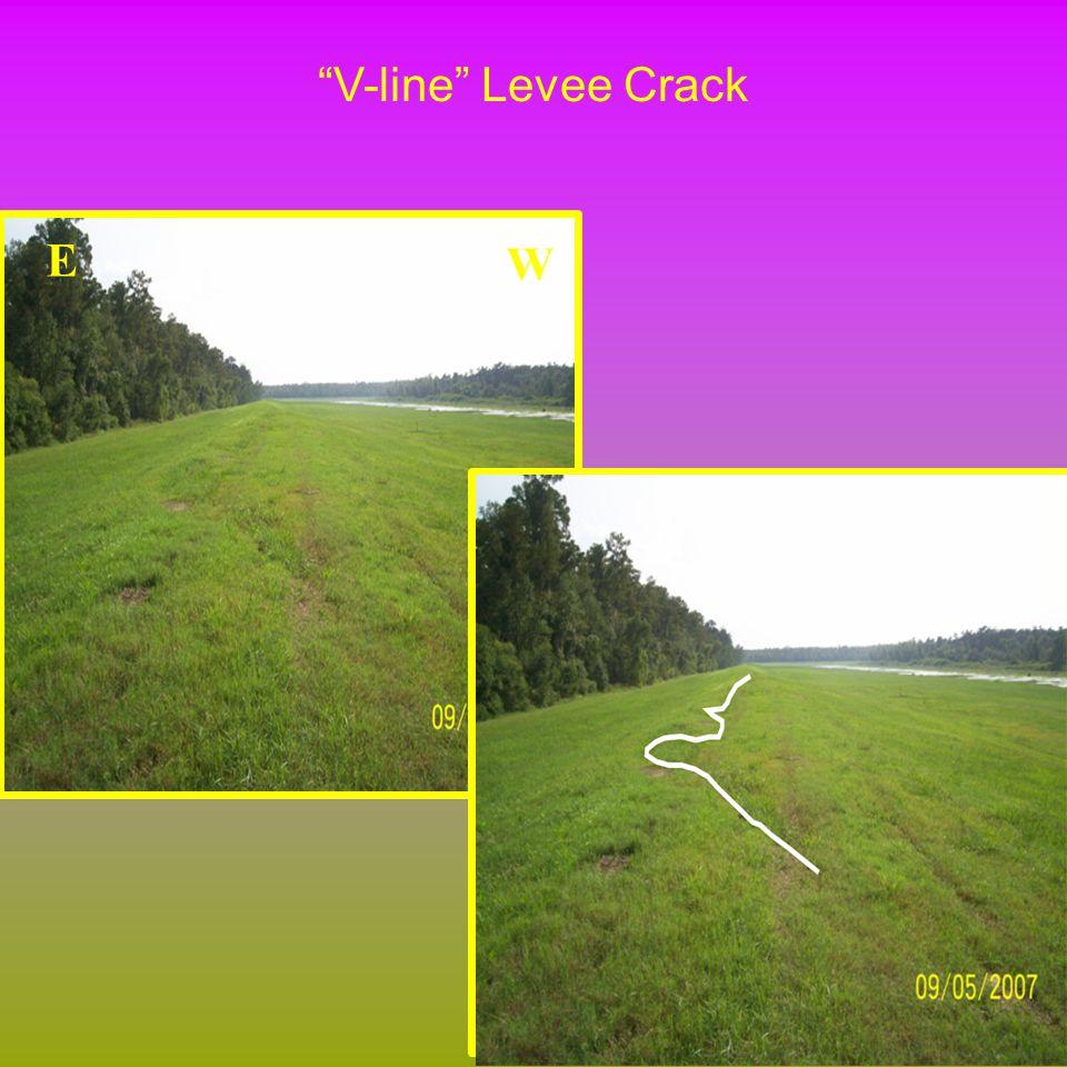 V-line Levee Crack W E