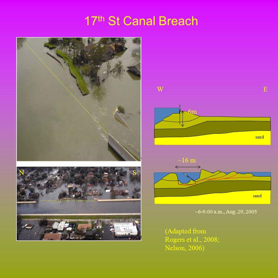 V-line Levee Cross-Section NESW Berm Level