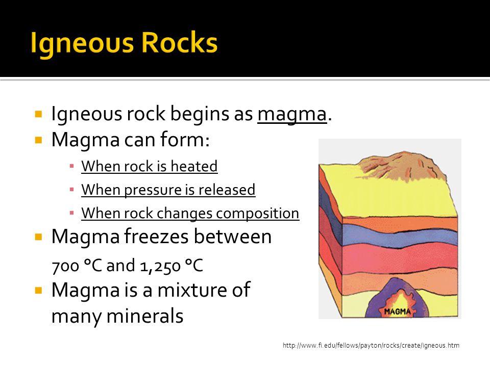 Igneous Rocks Igneous means born of fire