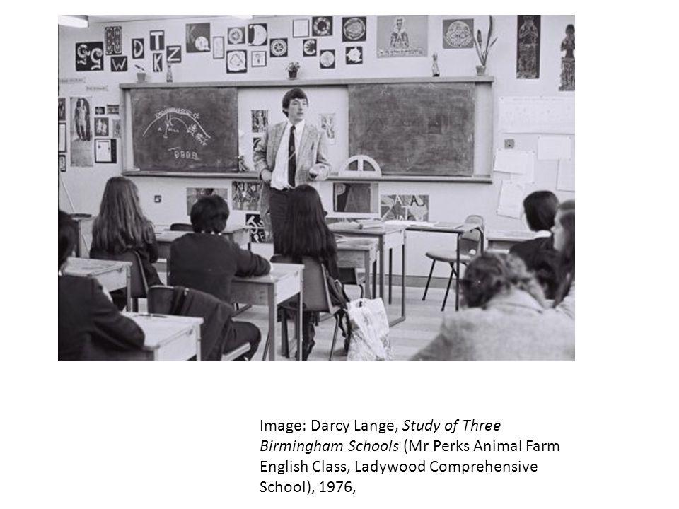 Image: Darcy Lange, Study of Three Birmingham Schools (Mr Perks Animal Farm English Class, Ladywood Comprehensive School), 1976,