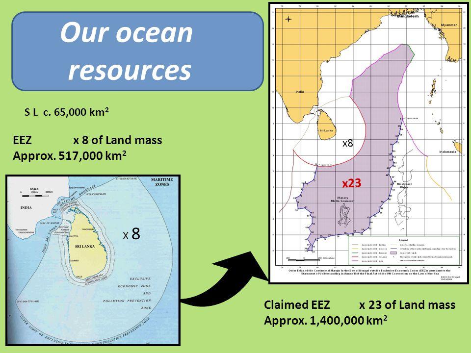 x8 x23 X 8 Claimed EEZ x 23 of Land mass Approx. 1,400,000 km 2 EEZ x 8 of Land mass Approx.