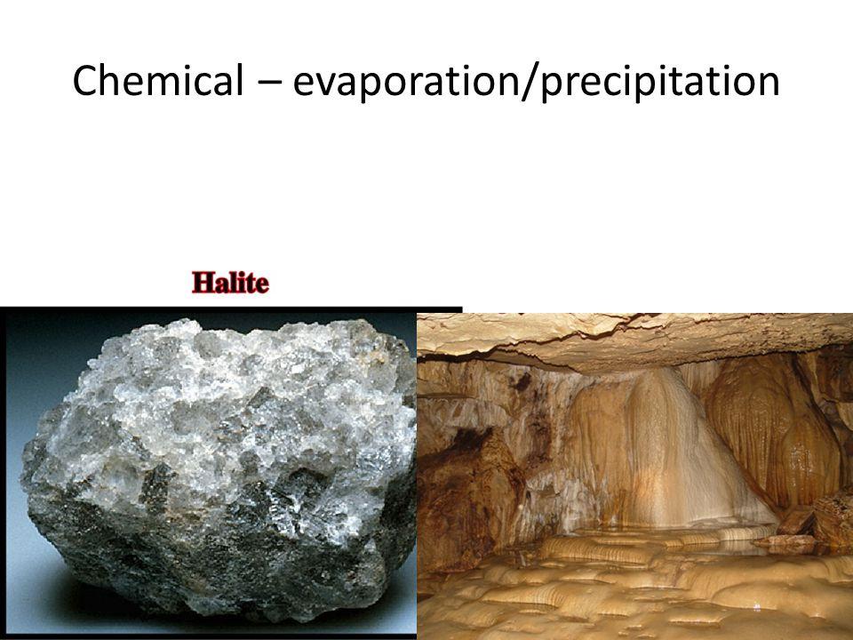 Chemical – evaporation/precipitation