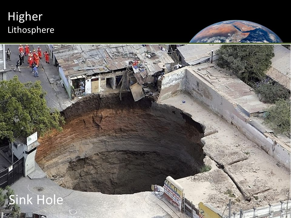 Higher Lithosphere Sink Hole