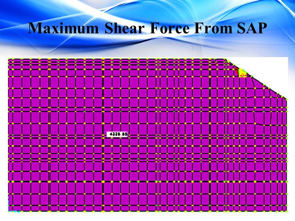 Maximum Shear Force From SAP