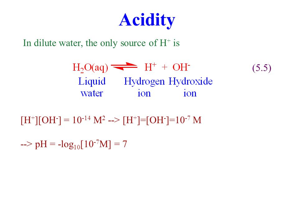 Acid/Base Acid Substance that, when added to a solution, dissociates, increasing [H + ], decreasing pH Strong acid: Substance that dissociate readily (e.g., H 2 SO 4, HCl, HNO 3 ) Weak acid: Substance that dissociate less readily (e.g., H 2 CO 3 ) Base (alkali) Substances that, when added to a solution, reduce [H + ], increasing pH.