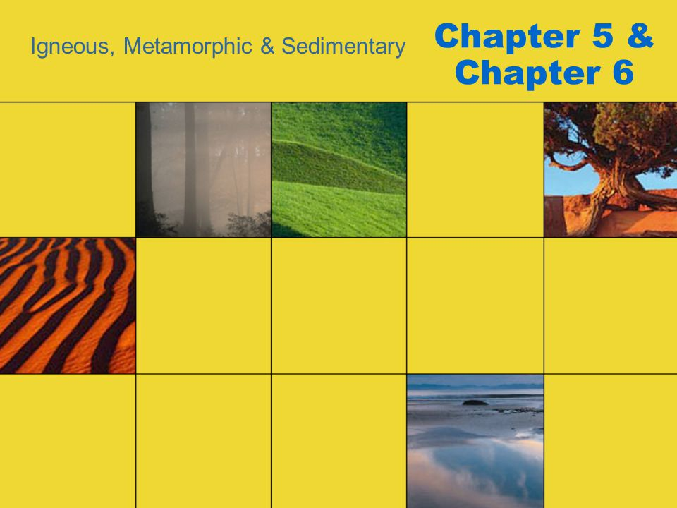 Chapter 5 & Chapter 6 Igneous, Metamorphic & Sedimentary