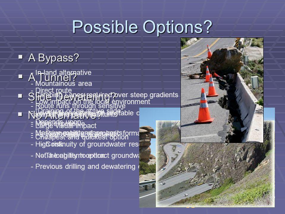 Possible Options.  No Alternative.