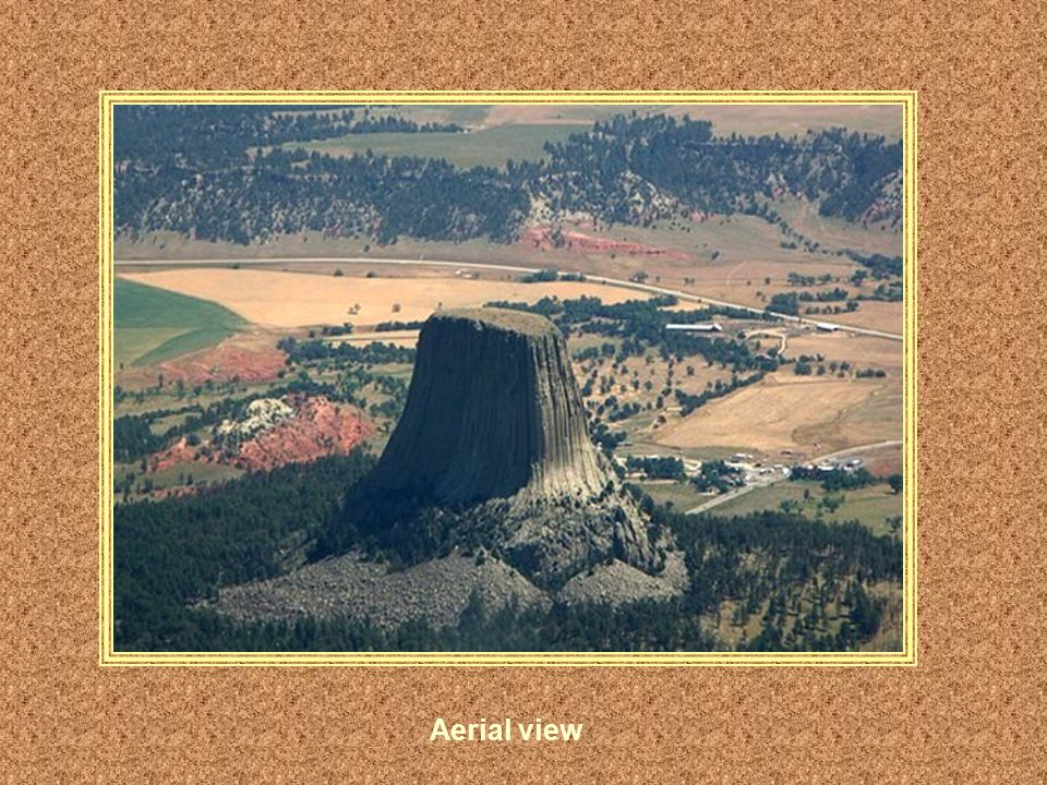 The Devils tower was used as a background for the 1977 blockbuster movie about the first encounter with alien life.