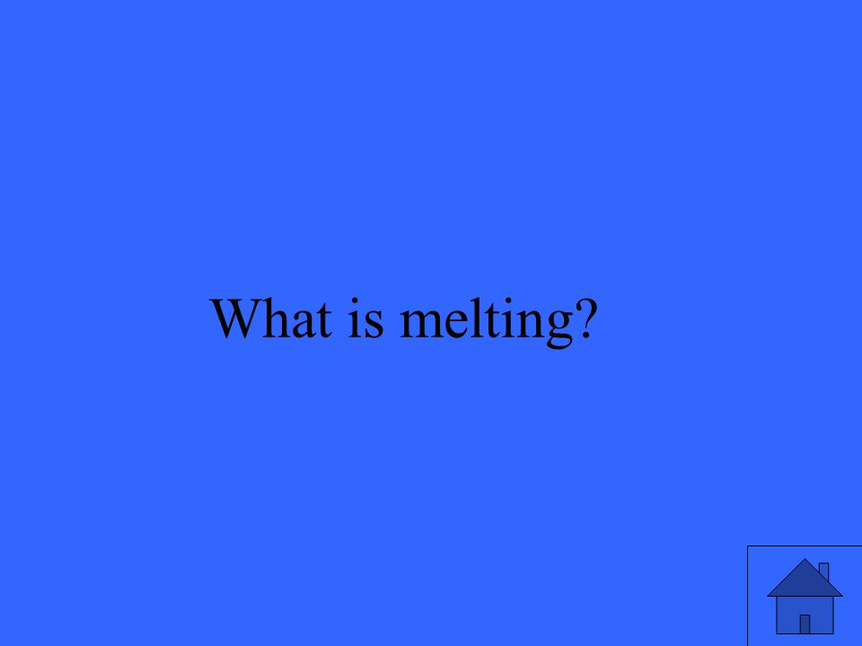 What is melting