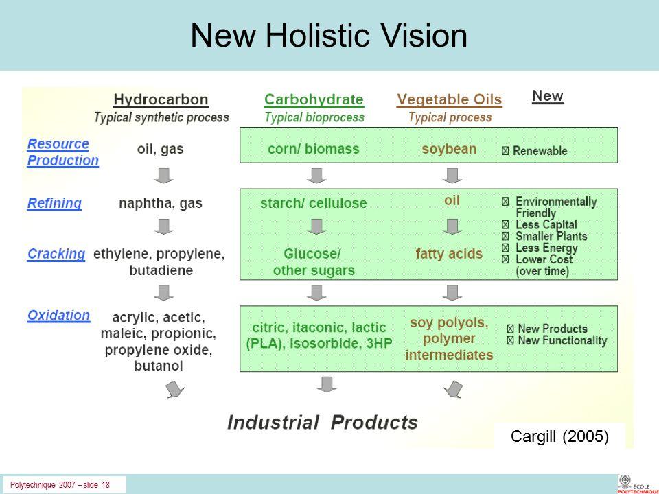 Polytechnique 2007 – slide 18 New Holistic Vision Cargill (2005)