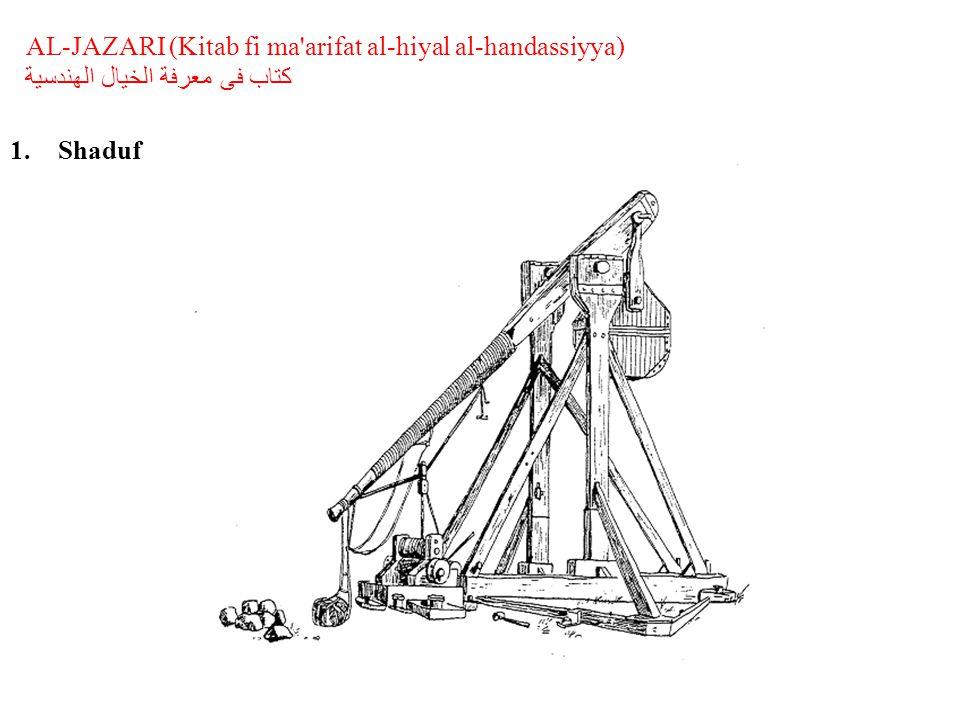 AL-JAZARI (Kitab fi ma arifat al-hiyal al-handassiyya) كتاب فى معرفة الخيال الهندسية 1.Shaduf