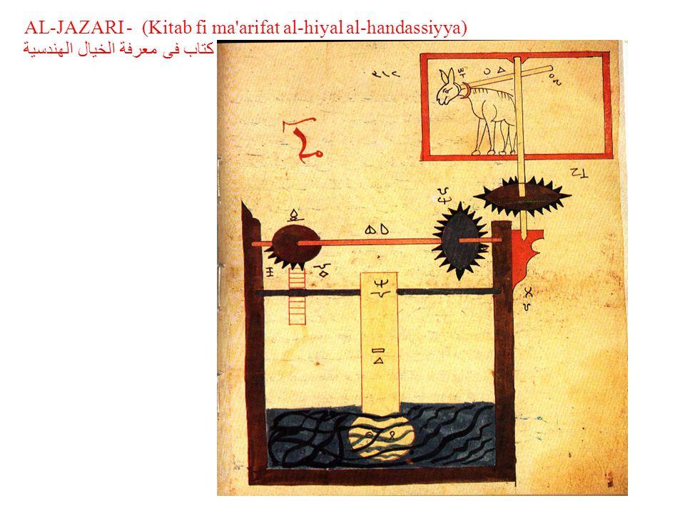 AL-JAZARI - (Kitab fi ma arifat al-hiyal al-handassiyya) كتاب فى معرفة الخيال الهندسية