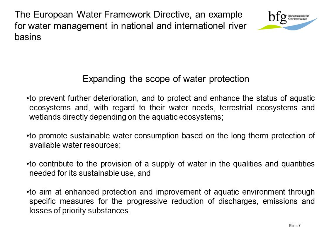 Slide 48 Contents 1.The European Water Framework Directive 2.