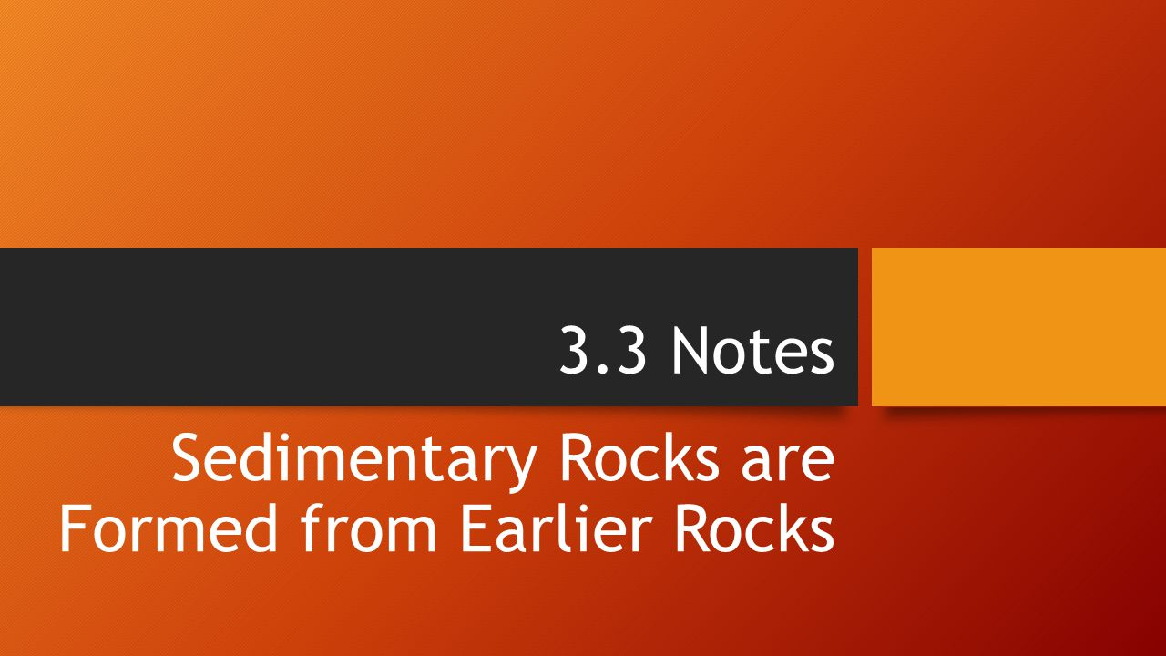 Think About… What determines how rock pieces settle in water.