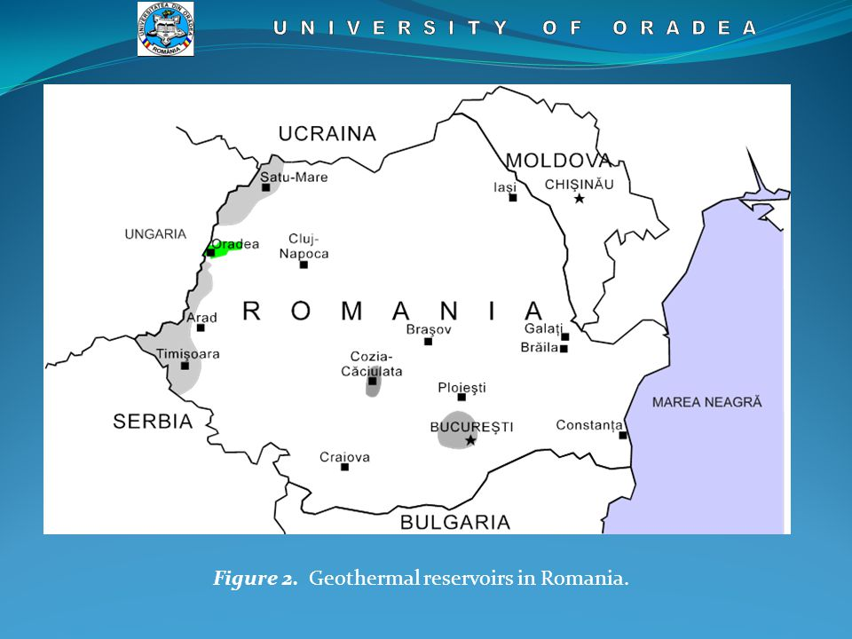 Figure 2. Geothermal reservoirs in Romania.