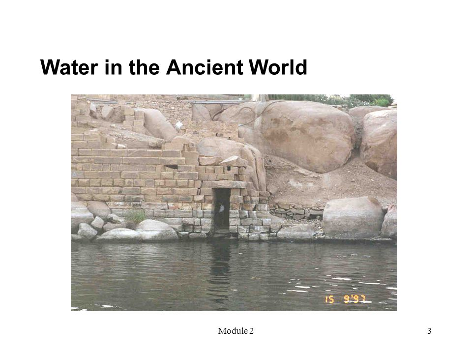 Module 23 Water in the Ancient World