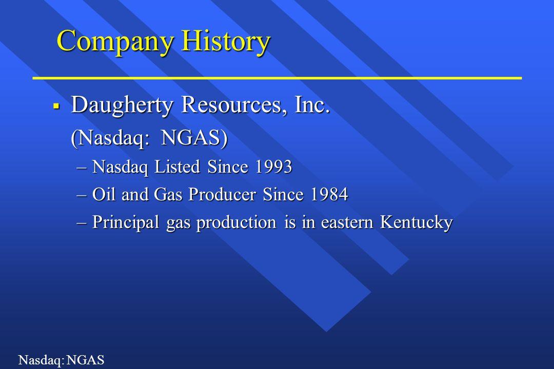 Nasdaq: NGAS Company History  Daugherty Resources, Inc.