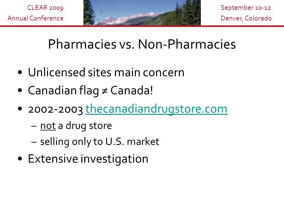 CLEAR 2009 Annual Conference September 10-12 Denver, Colorado Pharmacies vs.