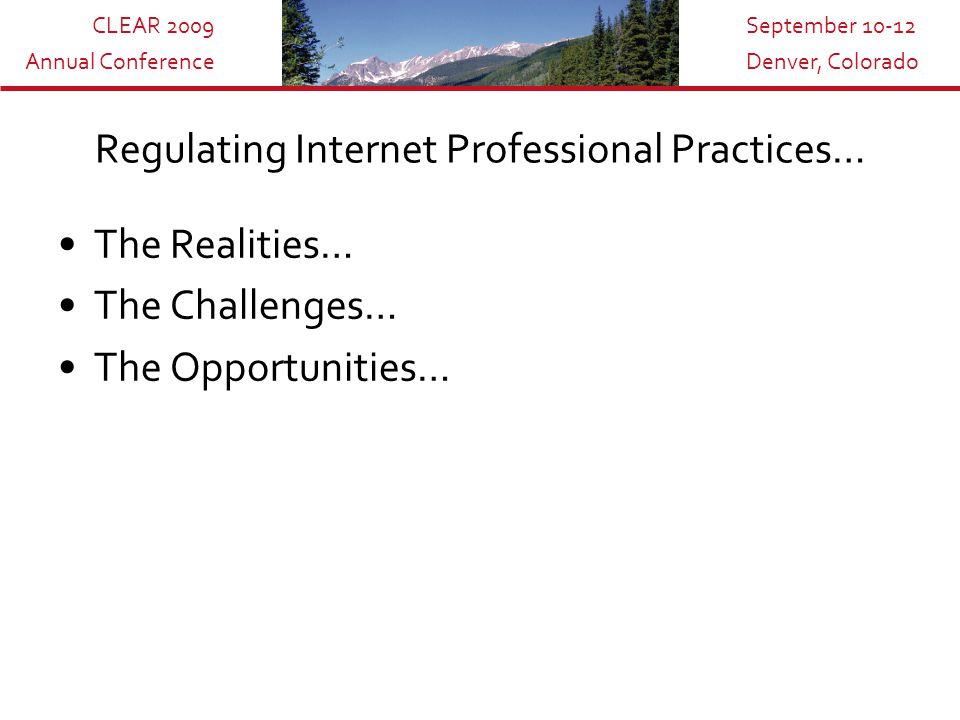 CLEAR 2009 Annual Conference September 10-12 Denver, Colorado LegitScript
