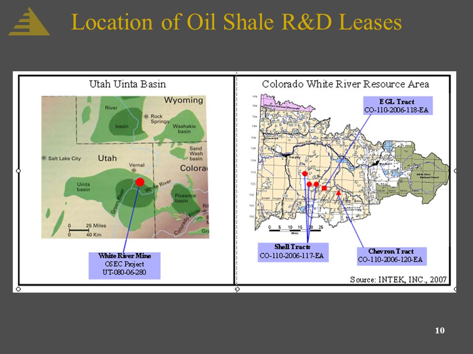 10 Location of Oil Shale R&D Leases