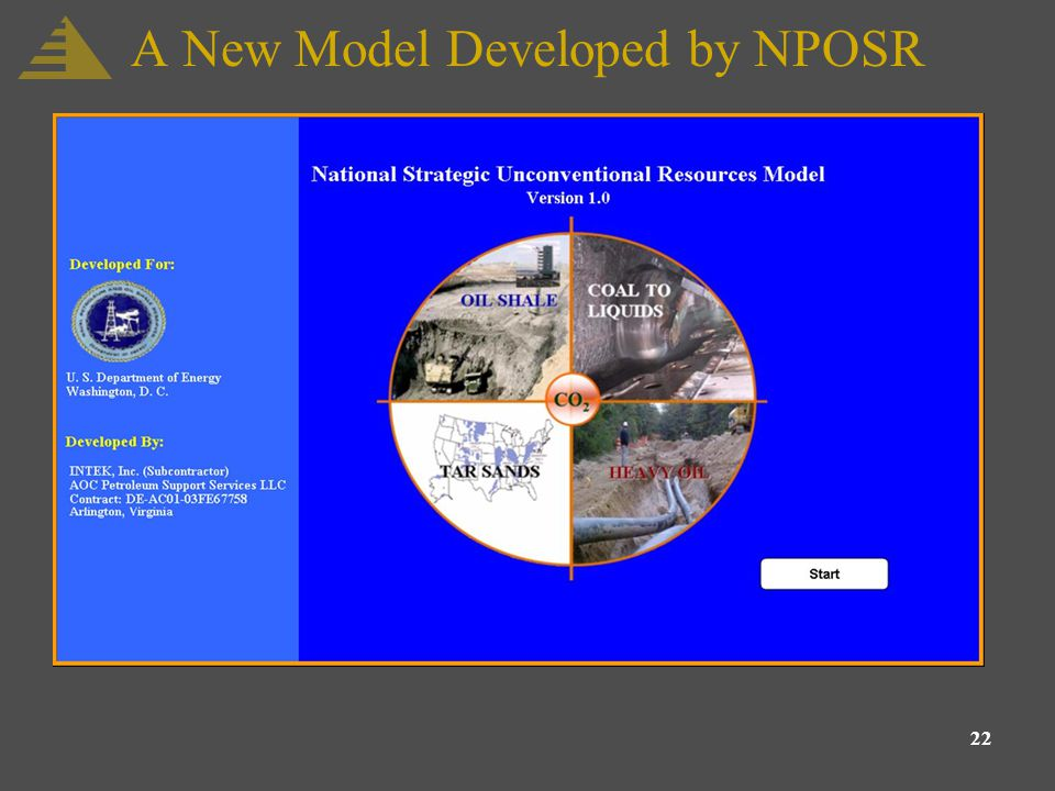 22 A New Model Developed by NPOSR