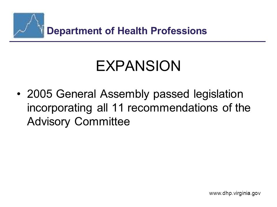 Department of Health Professions www.dhp.virginia.gov Requests by Year