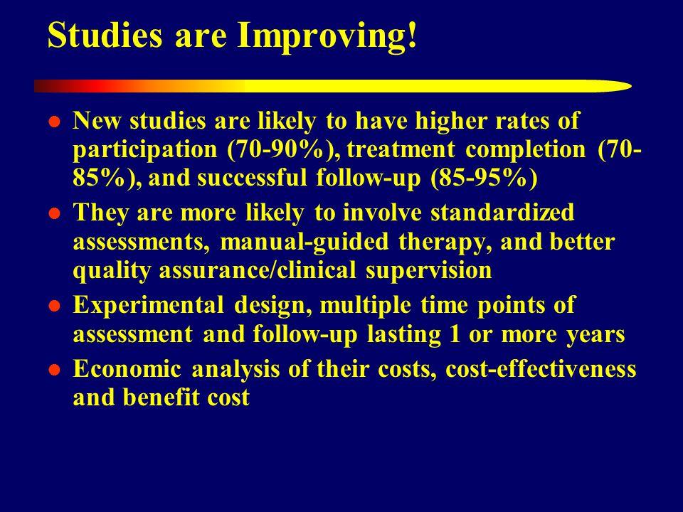 Studies are Improving.