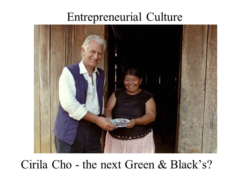 Entrepreneurial Culture Cirila Cho - the next Green & Black's?