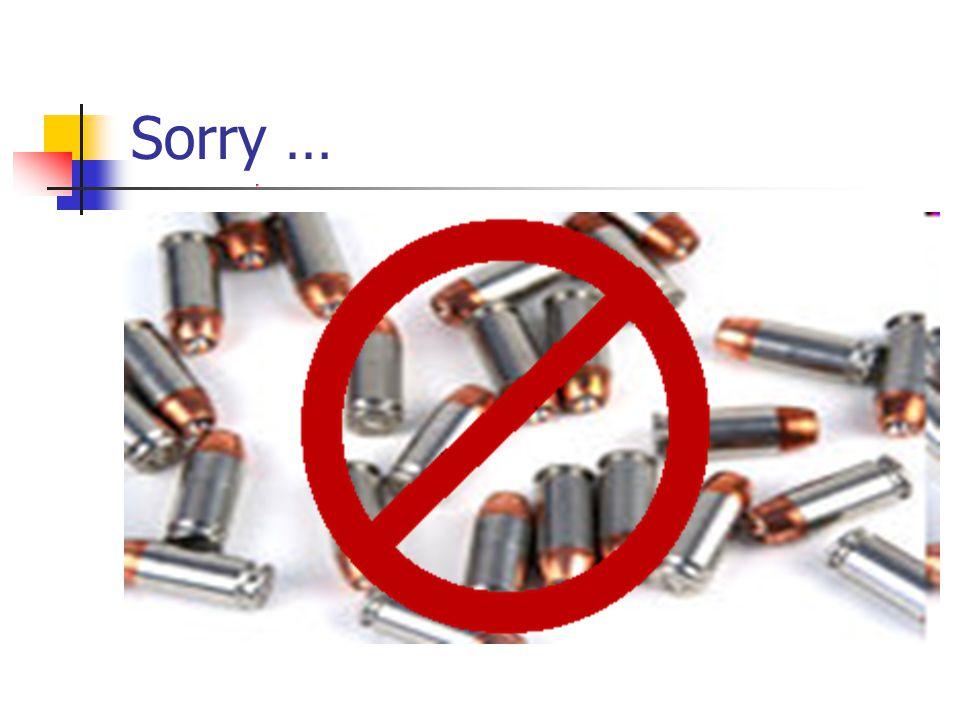 Sorry …