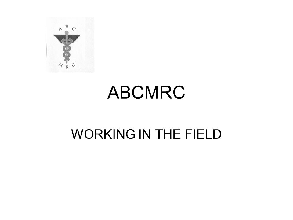 ABCMRC WORKING IN THE FIELD