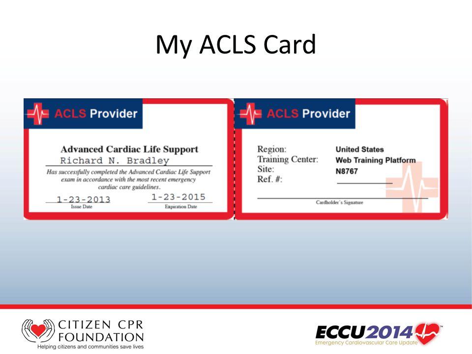 My ACLS Card