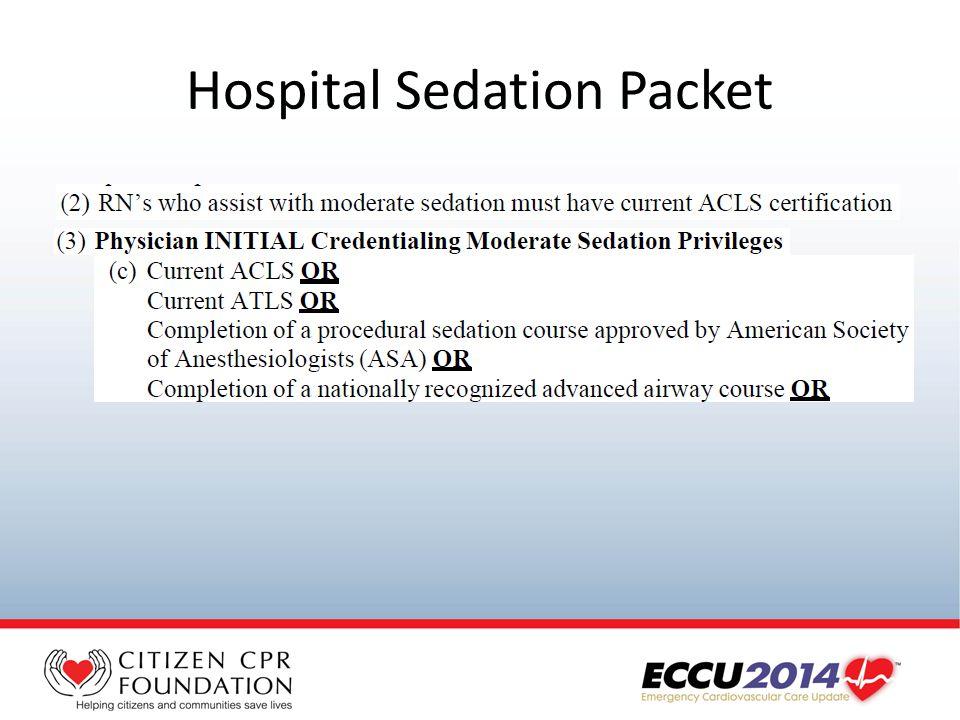 Hospital Sedation Packet
