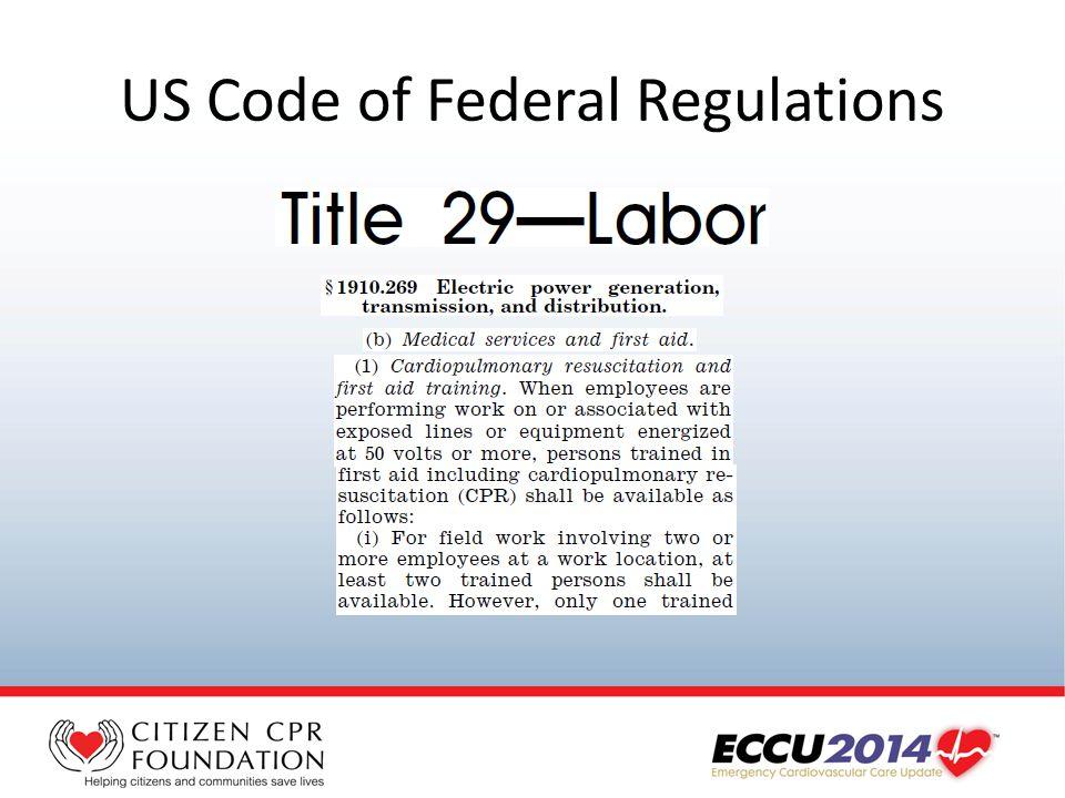 US Code of Federal Regulations