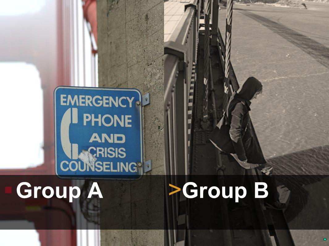  Group A > Group B