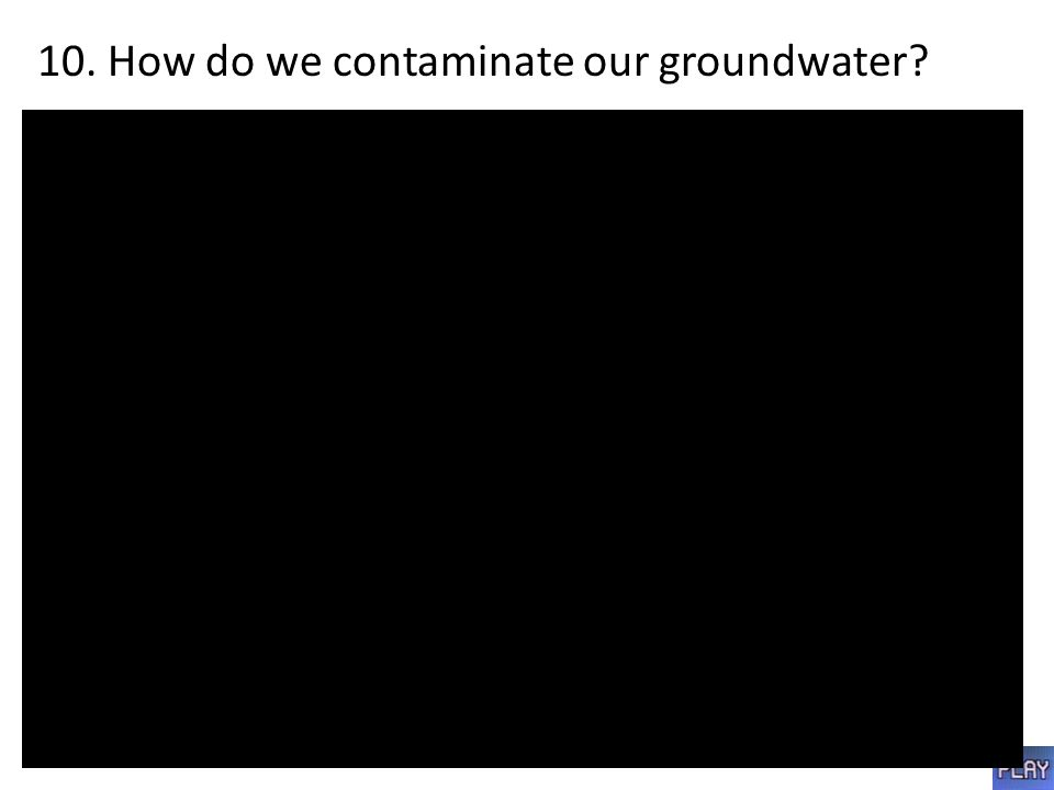 10. How do we contaminate our groundwater?