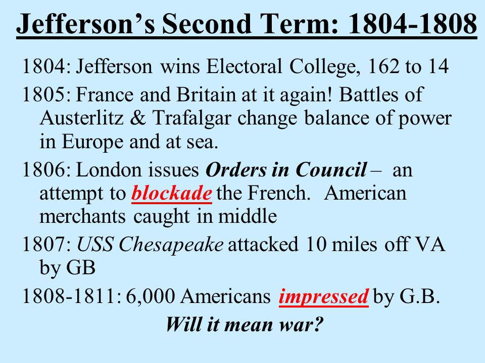 War of 1812 Ch. 6, Sect.