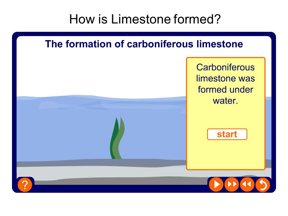 How is Limestone formed?